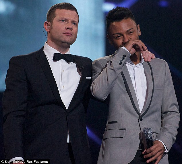 Good sport: After coming runner-up to Little Mix in the X Factor final, Marcus Collins said he had found his time on the show 'amazing'