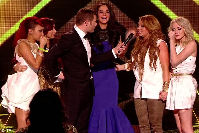 Thrilled: Little Mix couldn't contain their joy after is was announced that they had won the show