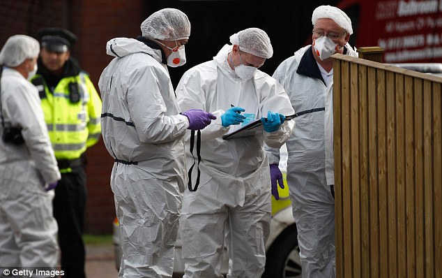 Investigation: Forensic teams at work at the house