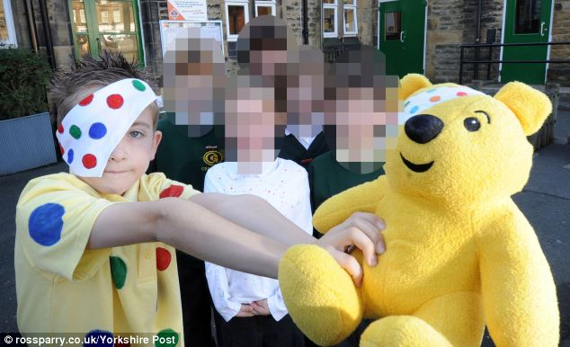 Ben was pictured in his local paper a few weeks before this death dressed up in a Pudsey Bear outift as part of a charity day at Greenside Primary School in Pudsey, West Yorks