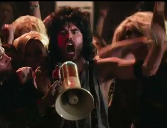 We're not gonna take it: Russell Brand's character Lonnie Barnett leads the fight to save the rock club he manages