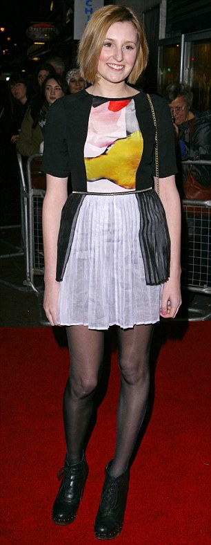 Laura Carmichael, who plays the unlucky in love Lady Edith Crawley, blends in as the middle sister in Downton - but here makes sure to stand out in studded boots and printed dress