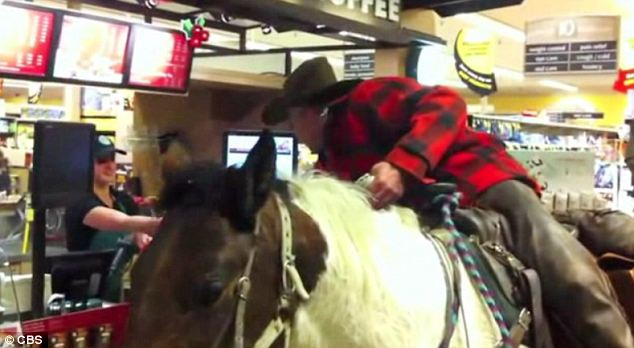 Giddy-up! Miller took his order to go