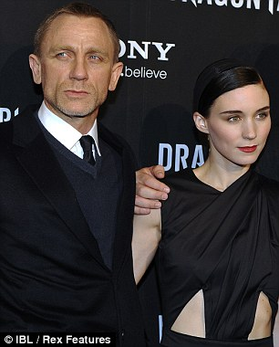 Stars: Daniel Craig and Rooney Mara at the film's Swedish première last night