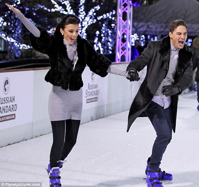 I've got the hang of it now! Lucy skated like a pro after getting a few tips from her tailor boyfriend Mario
