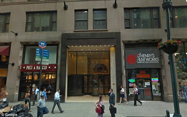 Exterior: The front of the building, which houses advertising giants Y&R - where Ms Hart worked