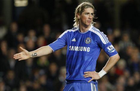 Struggling: Torres has just two Premier League goals this season