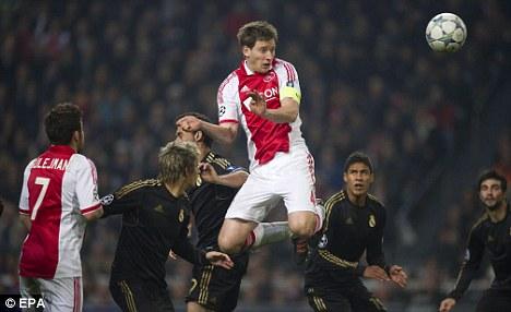 Target: Chelsea have been keeping tabs on Ajax defender Jan Vertonghen