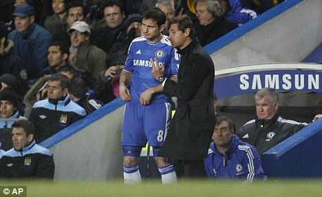 Good move: Villas-Boas sent Frank Lampard on to score the winner on Monday