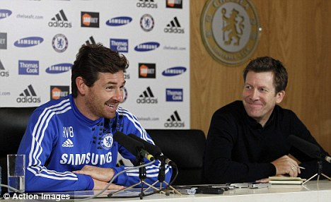 All smiles: Andre Villas-Boas was in a positive mood as he talked about Fernando Torres' future at Chelsea ahead of the Premier League clash with Wigan