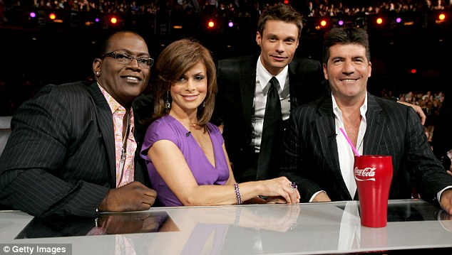 PLongtime pals: Simon and Paula have known each other for nine years, here seen on the American Idol panel alongside Randy Jackson and Ryan Seacrest