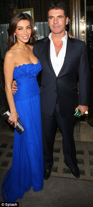 CLadies in his life: Simon is said to be still currently engaged to fiancée Mezhgan Hussainy, pictured left, however, he remains good friends with his ex girlfriends, including Sinnita, pictured right