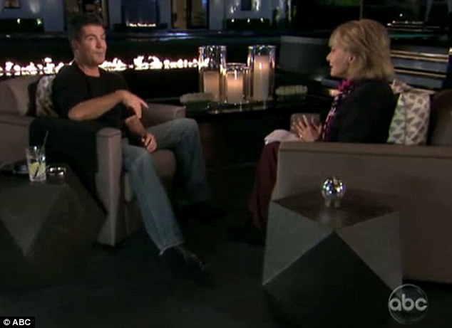 Plush: Walters conducted the interview in the lush back garden of Cowell's L.A mansion