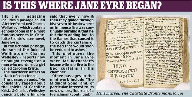 Key passage in Charlotte Bronte manuscript