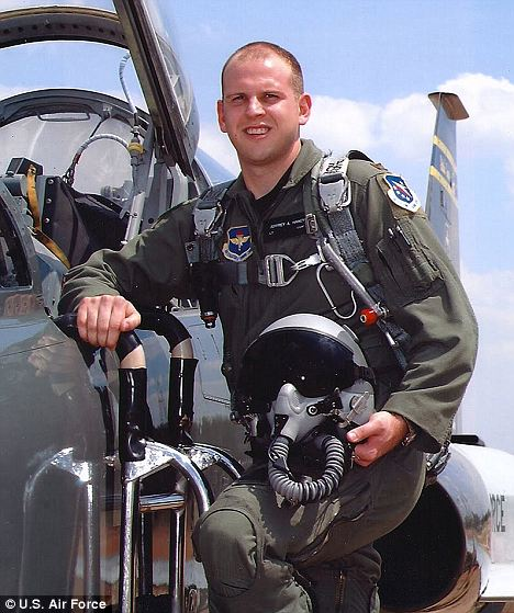 'Channelized attention': An Air Force crash investigation has found that Captain Jeff Haney's fatal crash was his fault after he lost concentration when his air supply failed