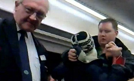 Footage of Alan Pollock tackling Sam Main as the ticket inspector stands aside has become a YouTube internet sensation