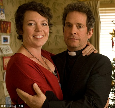 Tom Hollander with Olivia Colman in Rev. The BAFTA-winning comedy drama is set in Father Paul Turp's church, St Leonard's