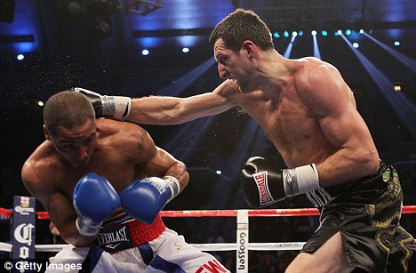 Too quick: Froch praised Ward's ability to stay out of harm's way