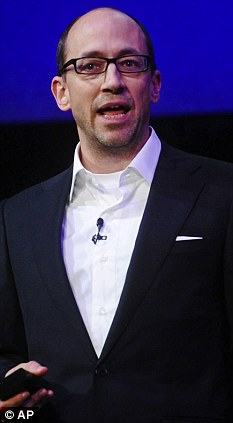 In charge: Dick Costolo, the chief executive officer of Twitter