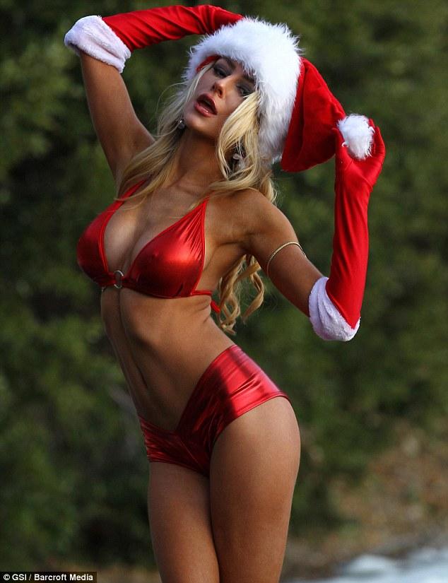 Jingle belle: Devout Christian Courtney Stodden wears a bikini to celebrate the festive period
