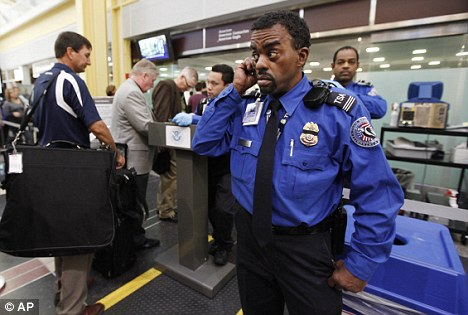 (File picture): Security staff at   Reagan-Washington National Airport say the man could be fined  $1,500 for bringing a prohibited item into a security checkpoint