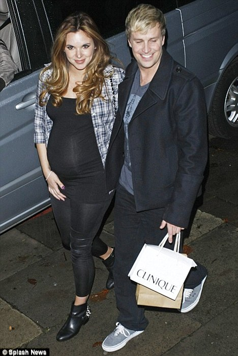 First time parents: Westlife star Kian became a father last night after his wife Jodi Albert gave birth to a baby boy called Koa