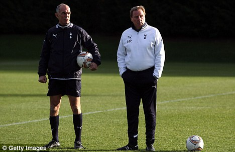 Team: Redknapp (right) and Joe Jordan (left) have propelled Tottenham into the upper echelons of the table