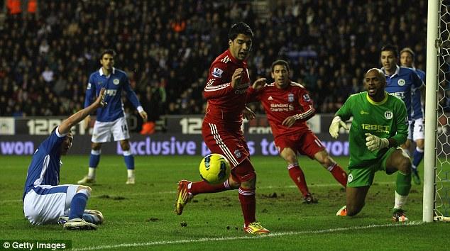 Close run thing: Suarez fails to convert
