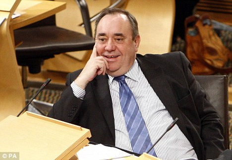 Odd: The civil service has been tasked by Alex Salmond with selling separatism to the electorate, in advance of an independence referendum