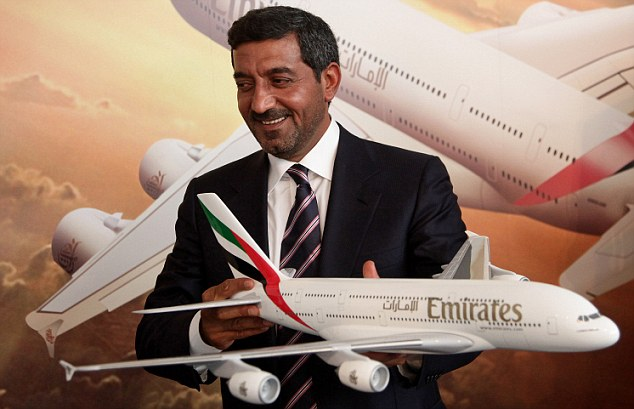 Sheikh Ahmed, chairman of Emirates airline and sponsor of Arsenal Football Club, met Miss El Gamal on a holiday to Dubai in 2003