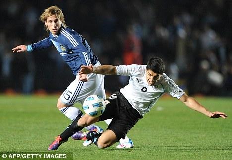 Wanted man: Argentine midfielder Lucas Biglia is on several club's radars