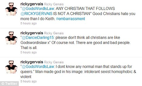 Abuse: Ricky has been targeted by Christian fundamentalists because of his views on religion
