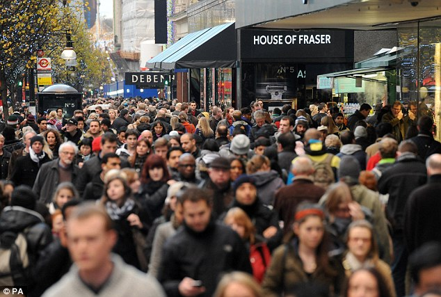 Crowded: The early launch of many January sales early has angered shoppers who made their Christmas purchases in advance