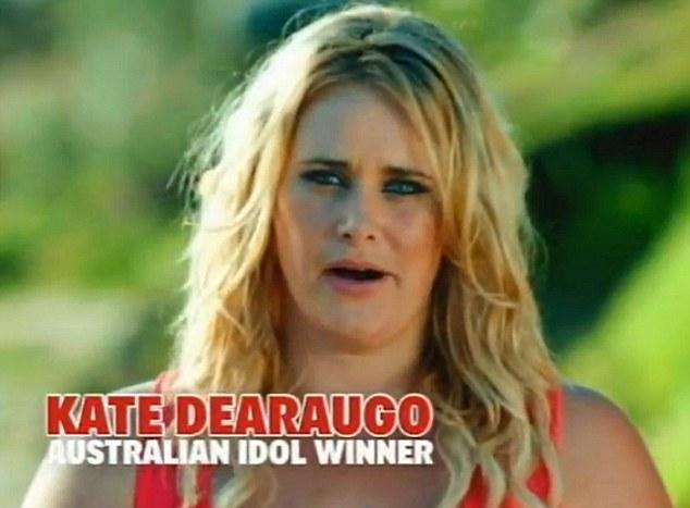 Battling her demons: Kate Dearaugo won the third series of Australian Idol in 2005