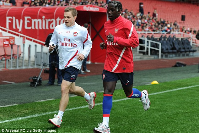 Road to recovery: Sagna is expected to return next month