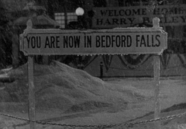 Immortalised: Frank Capra's film, set in the fictional town, became a Christmas classic