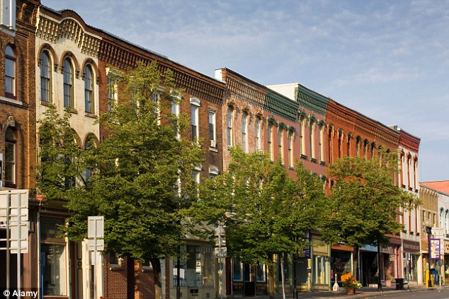 Main drag: The buildings in the business district of Seneca Falls show similarities to the architecture in the film