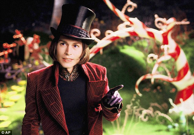 Willy Wonka for a day: Joshua said he wanted to be like the Roald Dhal character, pictured is Johnny Depp as Willy Wonka in the 'Charlie and the Chocolate Factory'