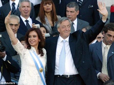 Couple: Argentina's President Crisitina Fernandez and her late husband former president Nestor Kirchner