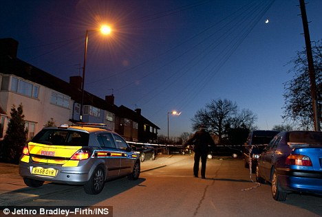 Grim discovery: Officers were called to the scene by a member of the public who had spotted the young woman's body