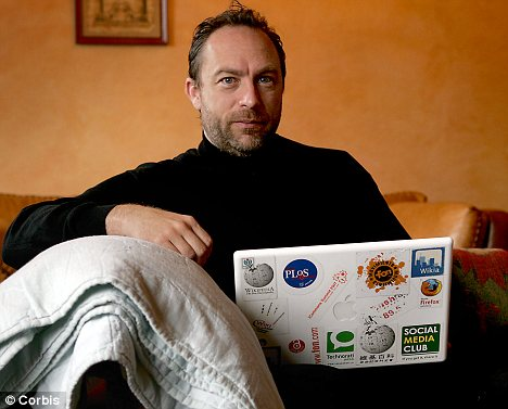 Opposition: Jimmy Wales, founder of Wikipedia, is one of many tech pioneers hoping to defeat SOPA