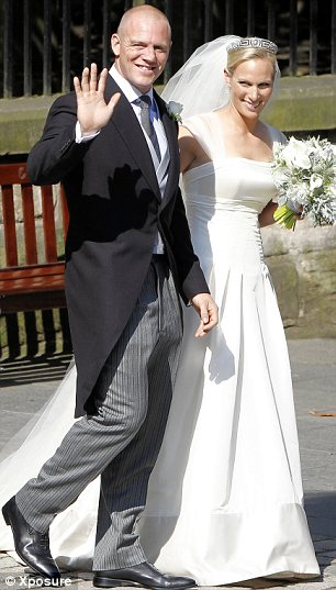 More royal weddings: Zara Phillips and Mike Tindall (left)