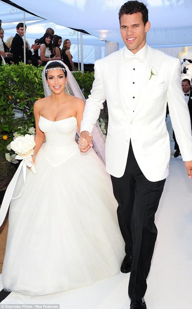 Not a lucky dress: The Vera Wang number Kim Kardashian wore to her ill-fated marriage