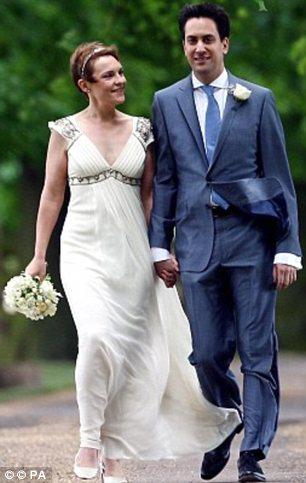 Political union: Ed Milliband's wife Justine Thornton in her Temperley gown