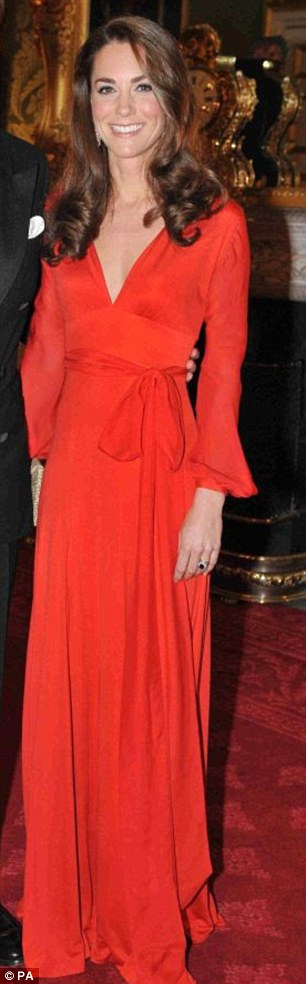 Red silk maxi dress by Beulah (£565), Wilbur & Gussie Edith clutch (£160) - 100 women in Hedge Funds gala, October