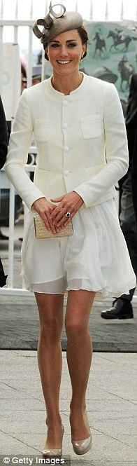 Chiffon dress (£195), Joseph jacket (£495), Whiteley hat (£99), LK Bennett bag (£140) and shoes (£180), the Epsom Derby in June