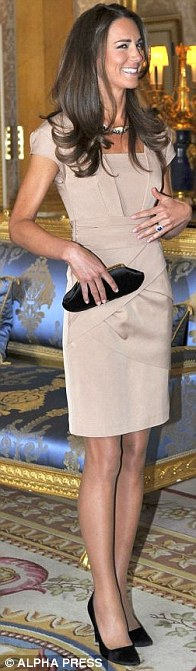 Beige Shola shift dress, Reiss (£175), LK Bennett shoes (£160), Anya Hindmarch clutch bag (£259), meeting the Obamas in May