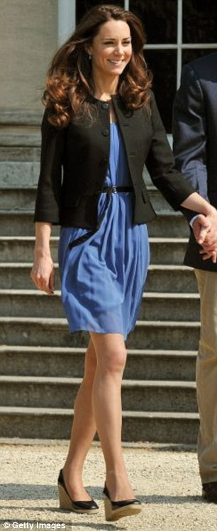 Blue chiffon by Zara (£49.99) with black jacket by Ralph Lauren - going away outfit, April
