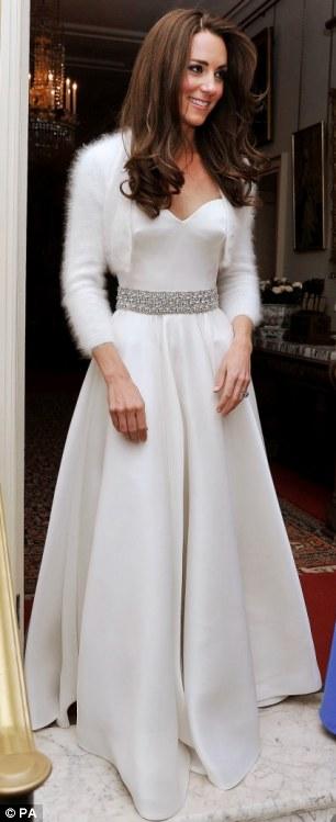 Evening dress by Sarah Burton for Alexander McQueen - post-wedding party, April