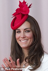 Red maple leaf hat by Sylia Fletcher at Lock & Co (£285), Canada Day in Ottaway, July